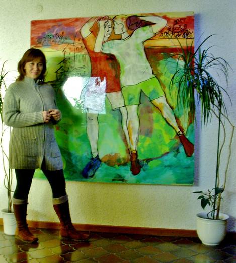 Silk paper on plexiglas with light behinde by Emina Katarina Kronburger, Picassolina