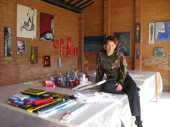 Painting Courses on ilborro.it, at the fantastic areal of Salvatore Ferragamo in Tuscany, by Emina Katarina Kronburger