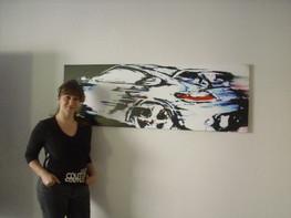 Porsche aquarell by Emina Katarina Kronburger, Picassolina