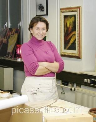 Emina Katarina Kronburger, Picassolina in her former atelier