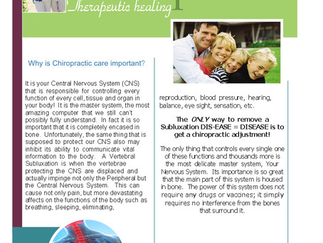 Why Chiropractic is so important