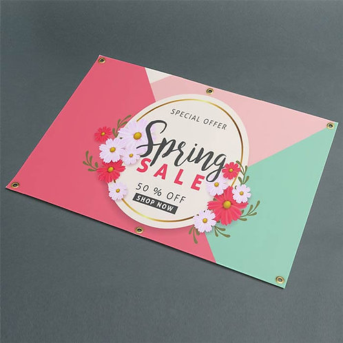 Classic Outdoor Banner advertising spring sale