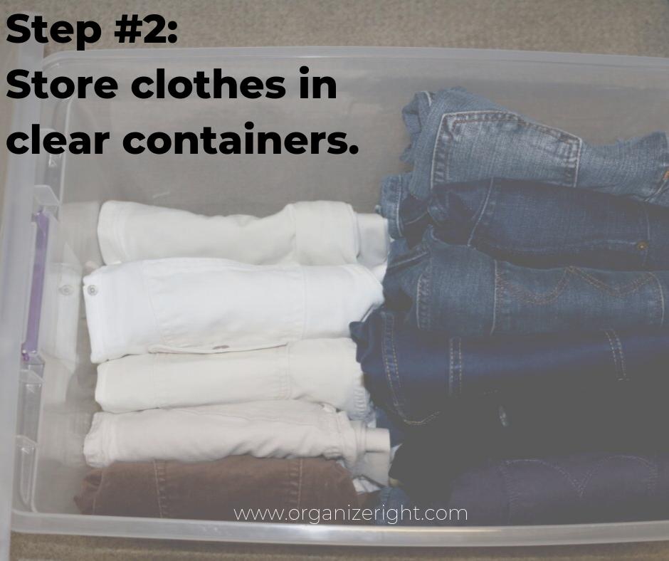 How to organize your closet step #2