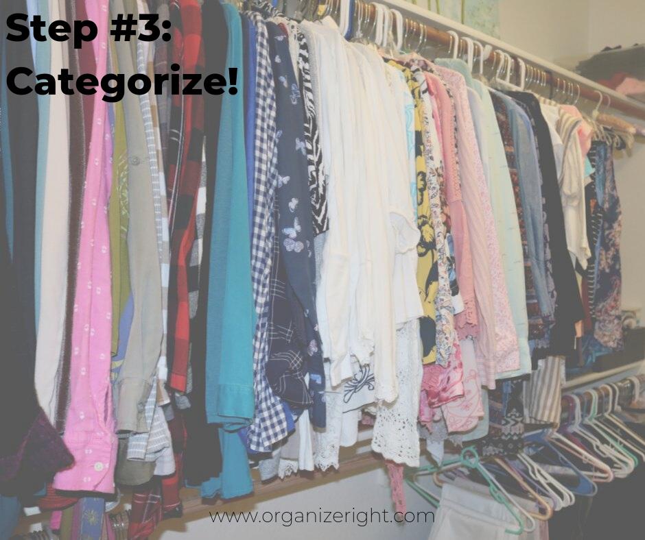 How to organize your closet step #3