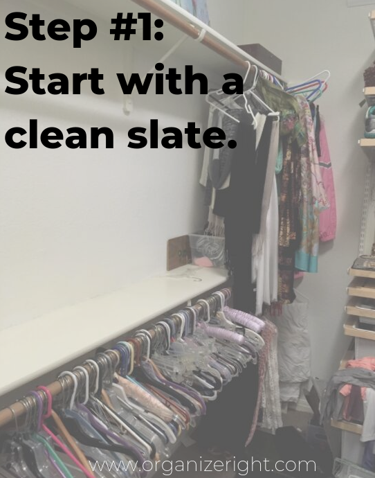 How to organize your closet step #1
