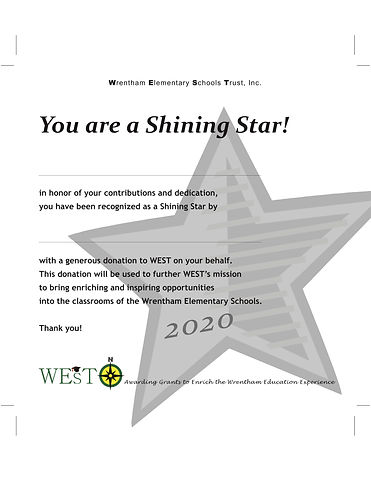 Shining Star Certificate 2020 med gray (