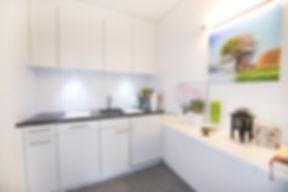 Küche im Yoga Loft