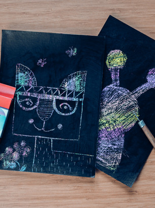 Create scratched pictures with your kids