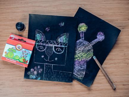 Vyzkoušejte s dětmi vyškrabávané obrázky