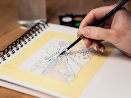 Try painting with watercolors