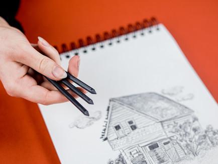 Rychlá kresba grafitovými tuhami