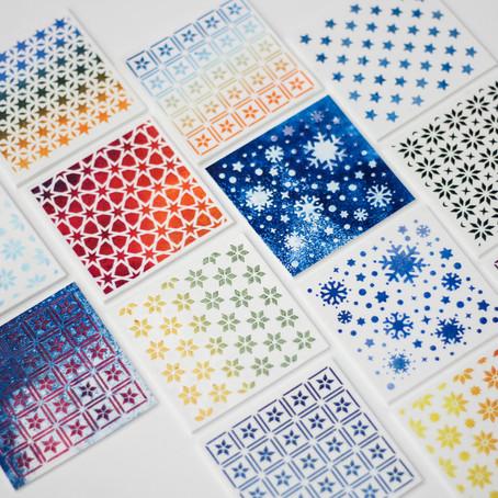 Vánoční vzory na polymeru / Christmas patterns on clay