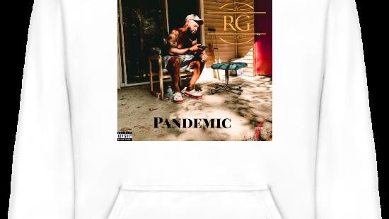 Pandemic Hoodie  (White / Red)