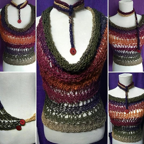 Boho chic halter neck