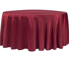 Apple Red Lamour Satin 120_ Round