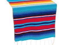 Woven-Mexican-Serape-Table-Runner-Tassel