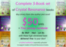 Crystal Resonance Set $50 US Author Sale