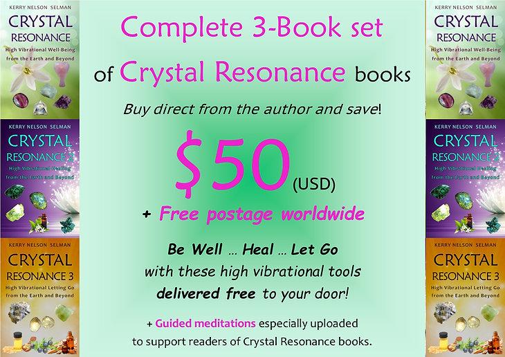 Crystal Resonance Set $50 US Author Sale