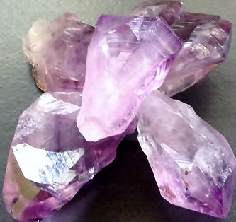 Vibrational Oneness & Crysta Resonance Amethyst stones from Kerry's collection