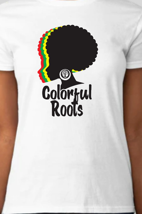 Colorful Roots Afro Queen T Shirt Unisex