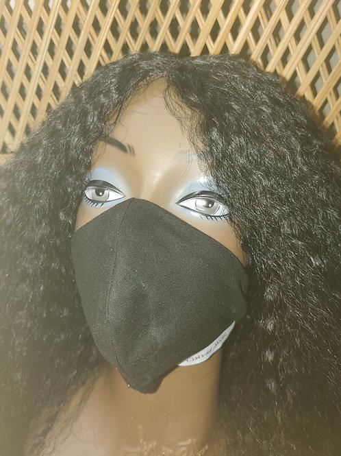 Black Beige Reversable Facemask