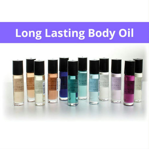 5 pk Bundle of Women's Fragrance Body Oils