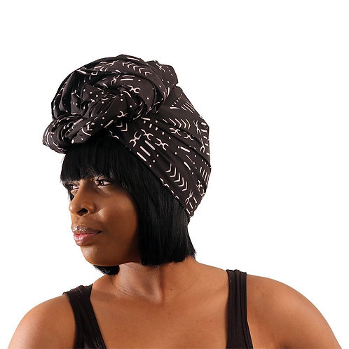 Black Mud Cloth Head Wrap