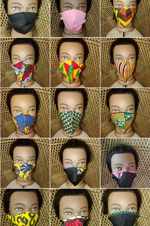 Handcrafted Cotton Ankara Face Mask ReUsable