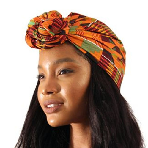 Traditional Kente Print Head Wrap