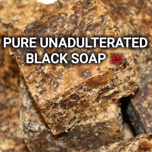 One Block Pound of Africa Black Soap