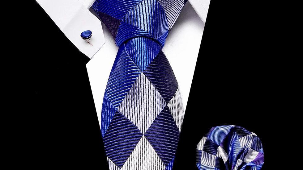 Triangle -3pc Tie Silk Set