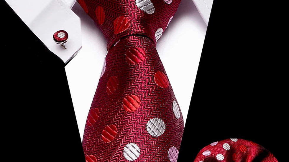 Polka Dot - 3 pc Tie Silk Set