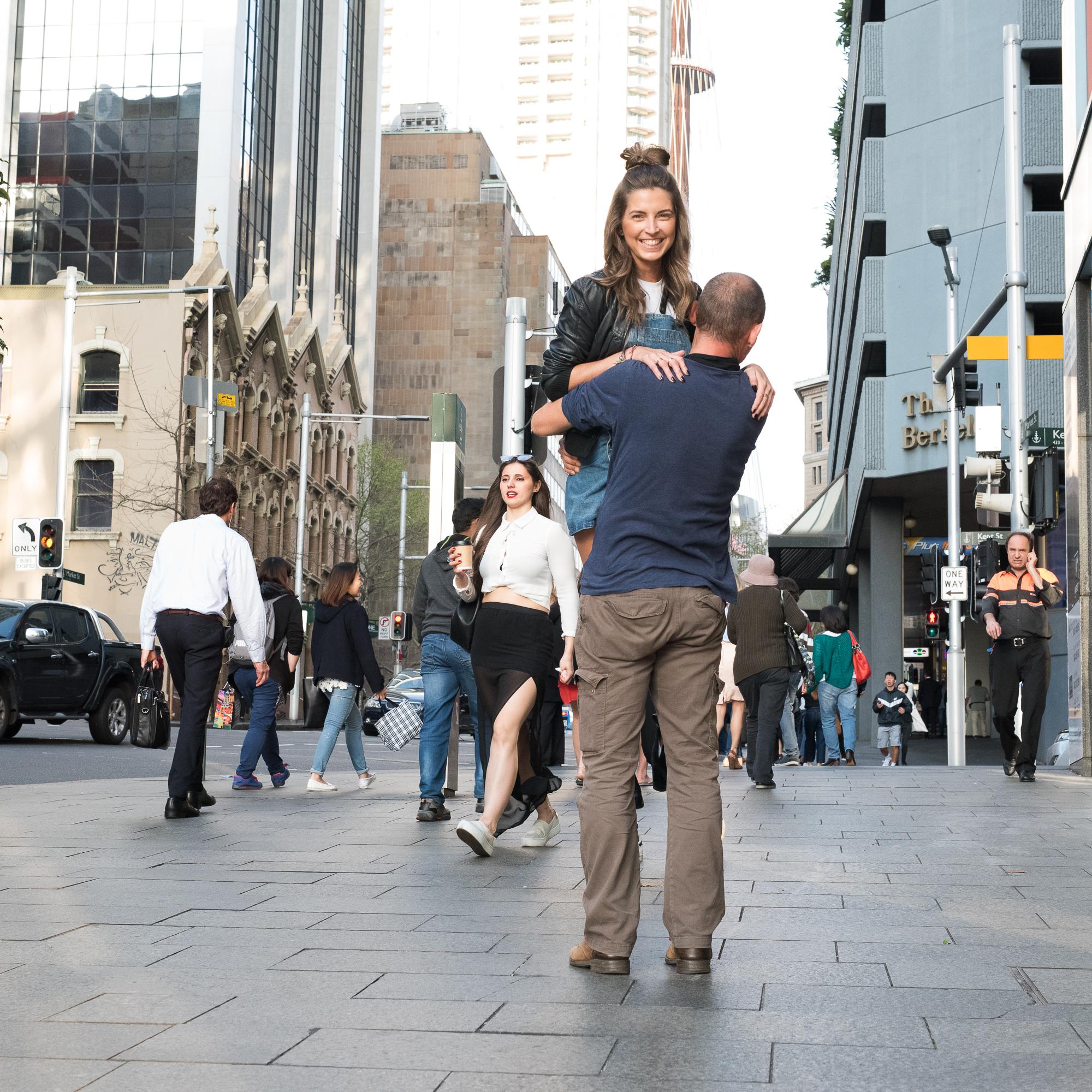 street Sydney - With an naked leg