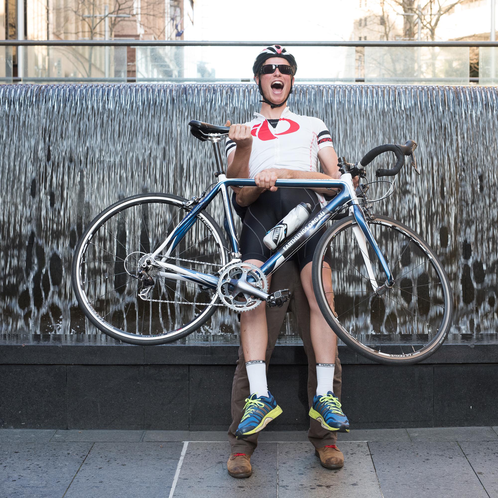 Martin Place Sydney - Bike, helmet and glasses