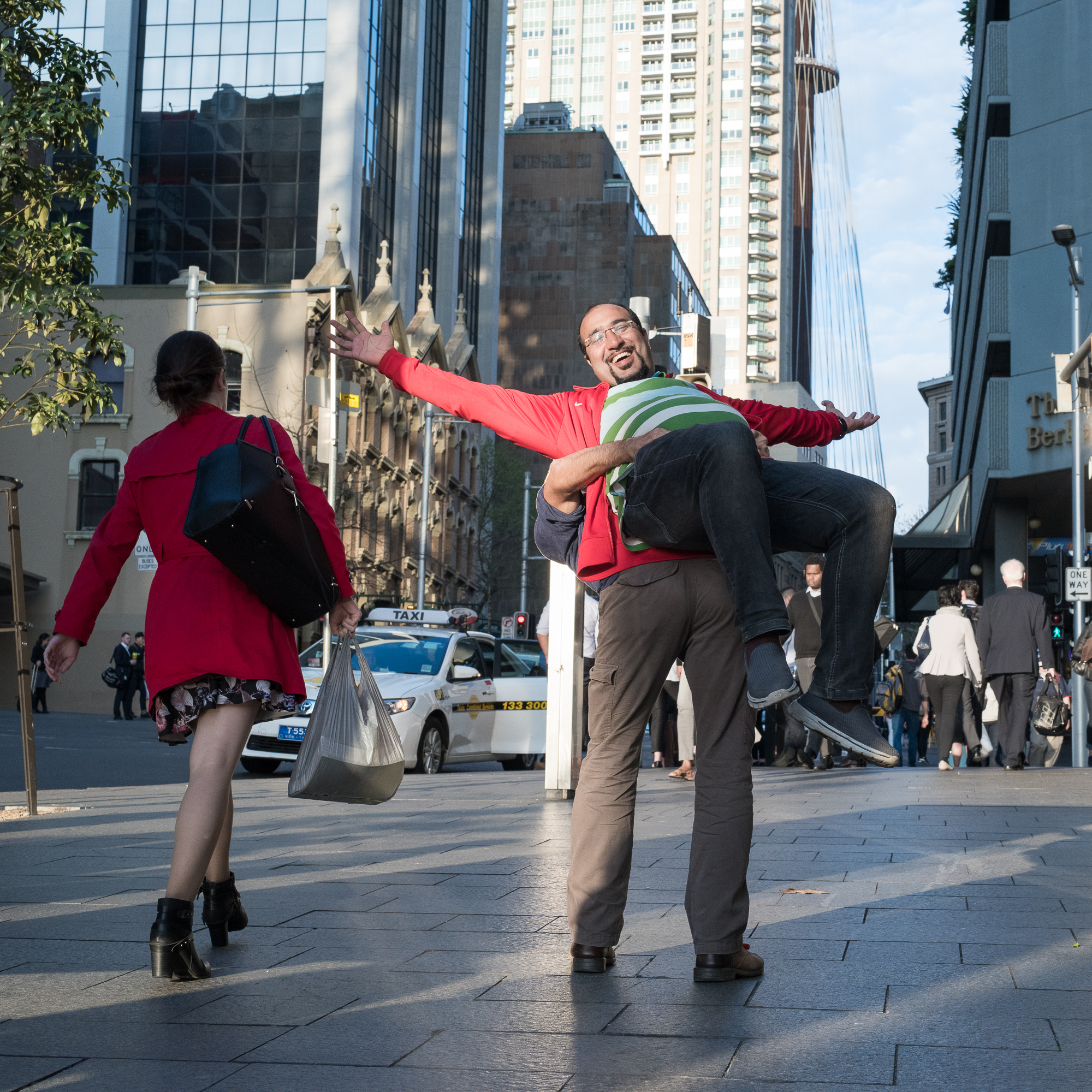 Street Sydney - With a girl in red
