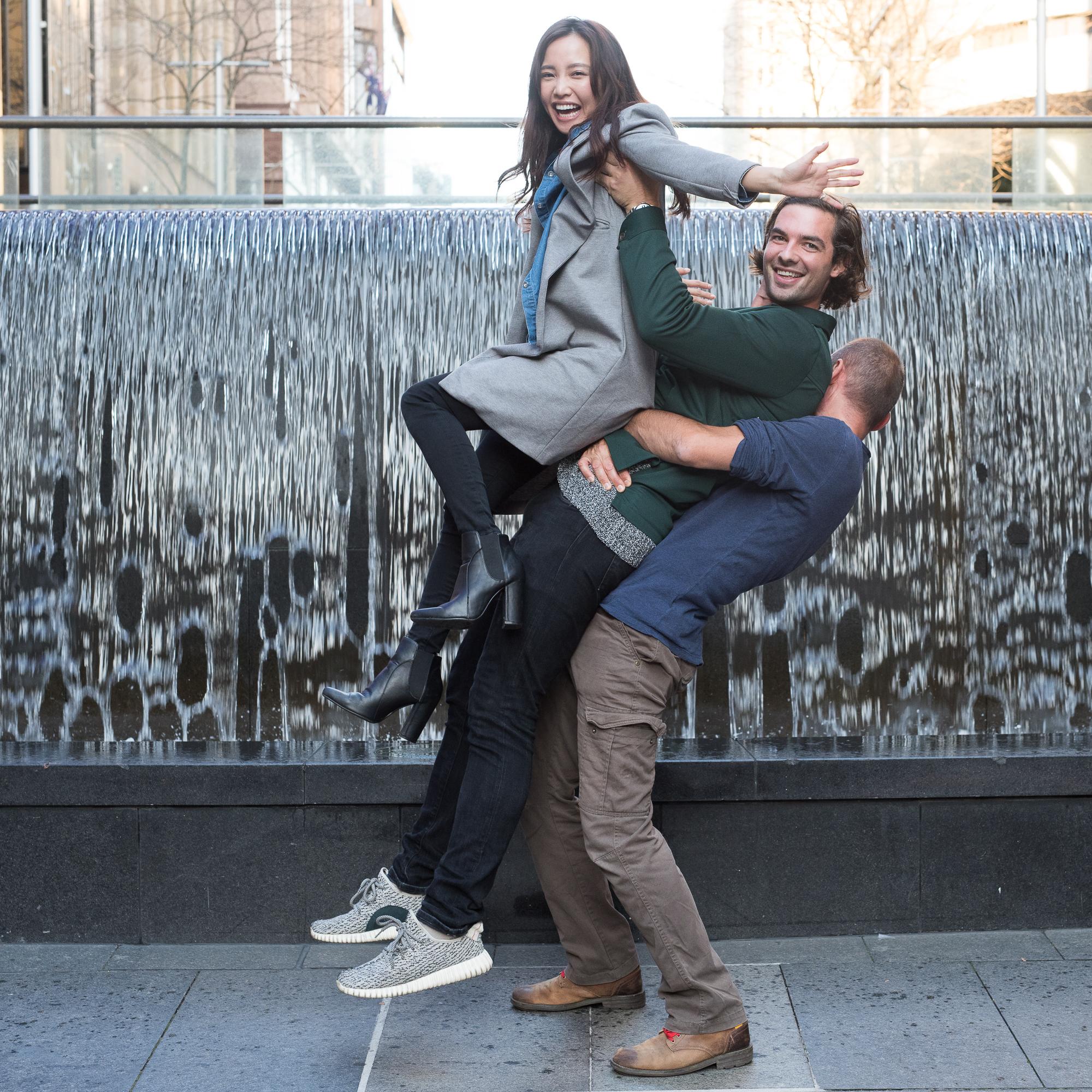 Martin Place Sydney - Piling up