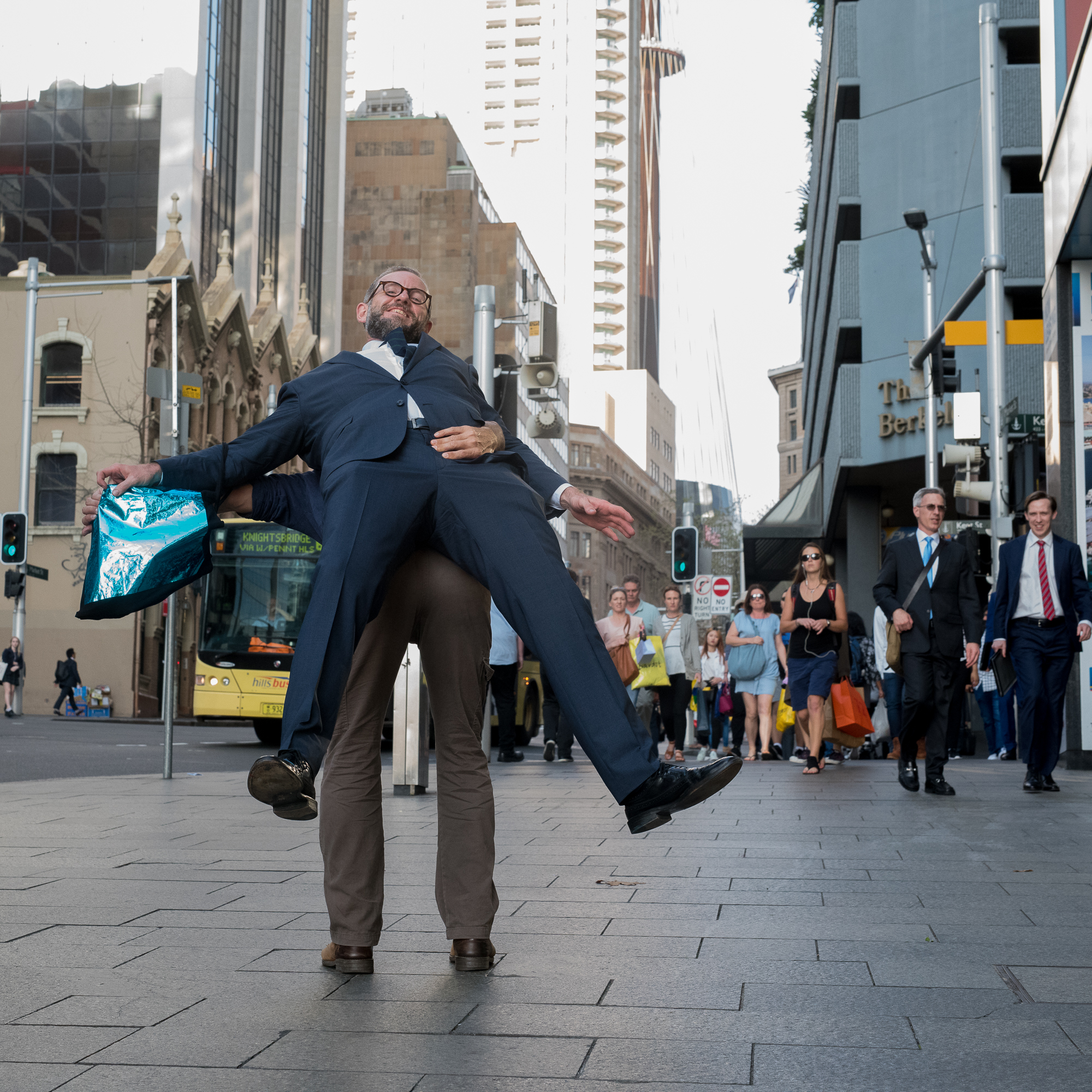 Street Sydney - With two ties