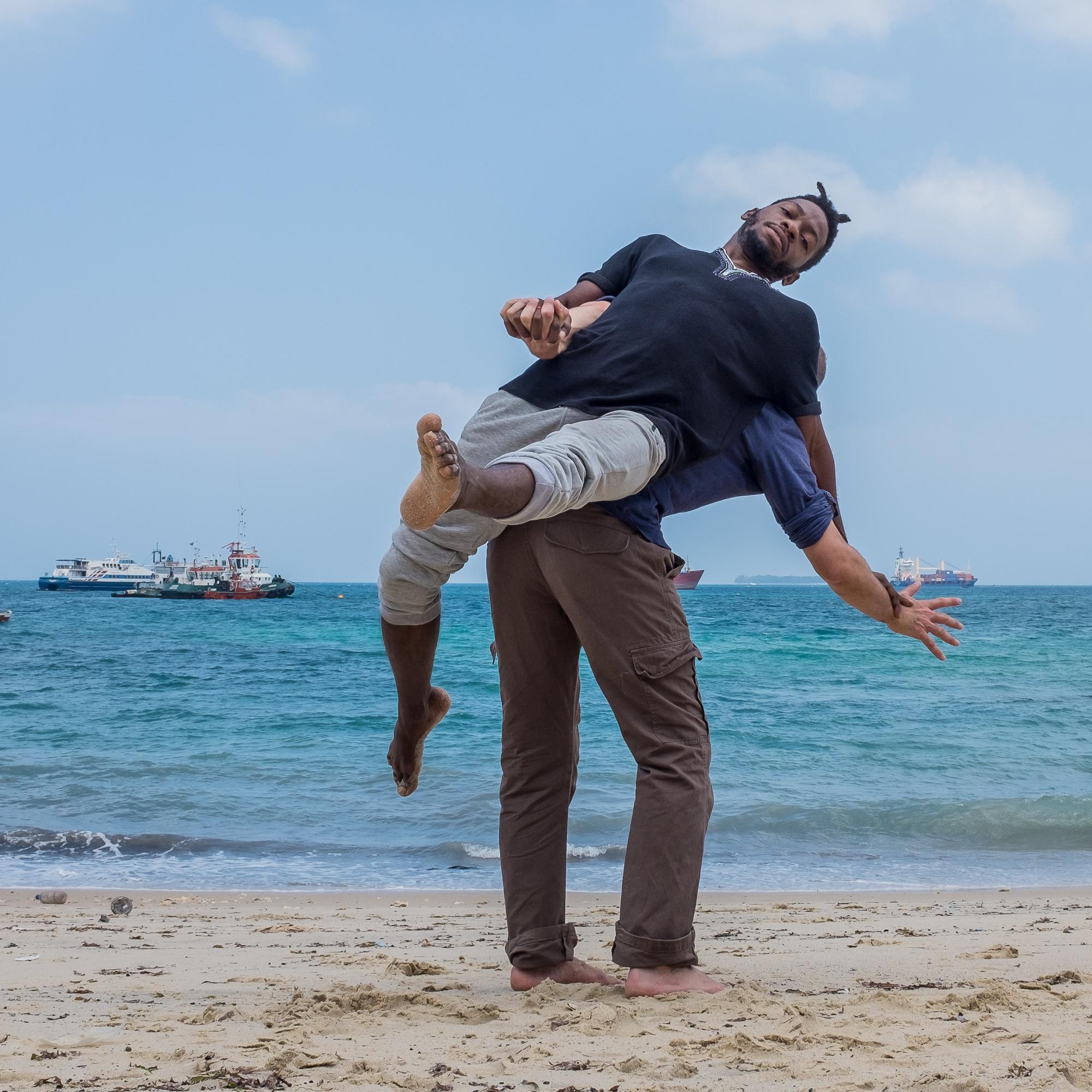 Zanzibar beach - Jump_