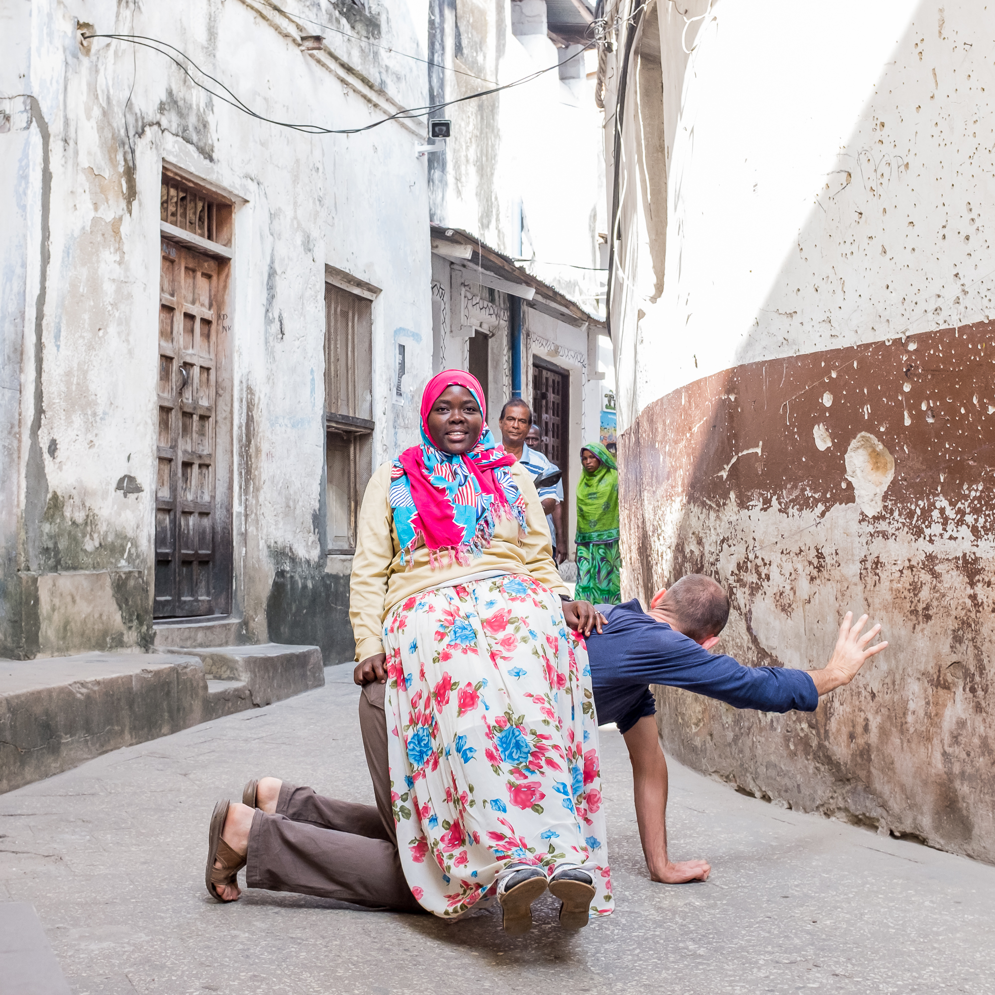 Stone Town - 3 passers-by_