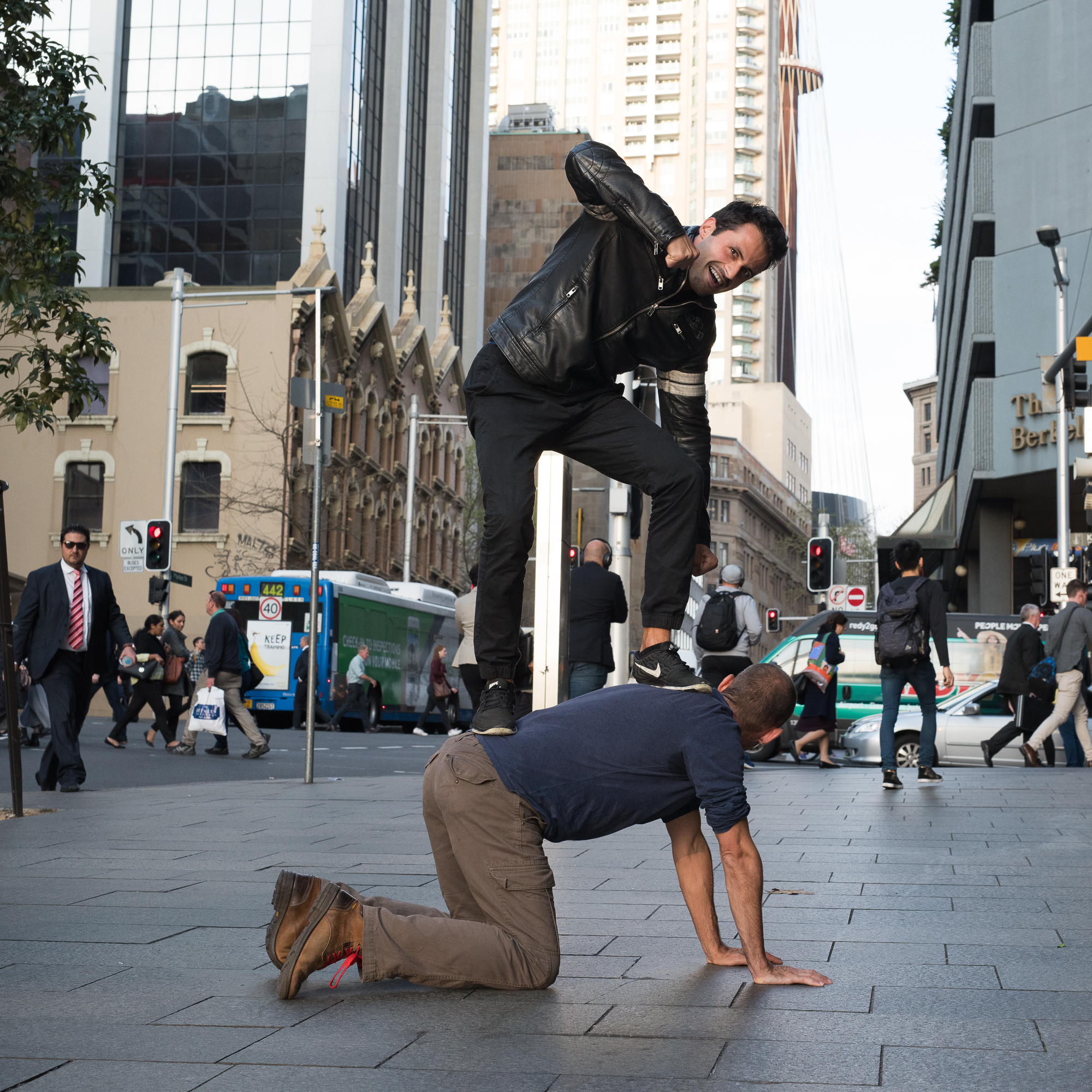 Street Sydney - With men in black