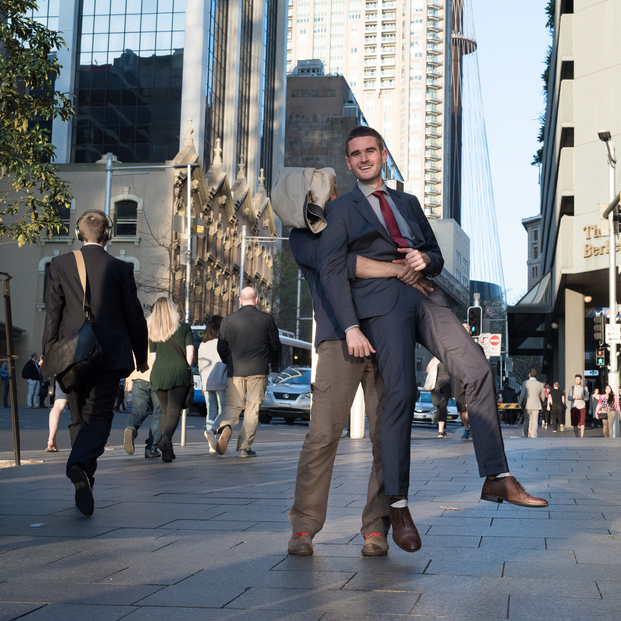 Street Sydney - With elegant headphone
