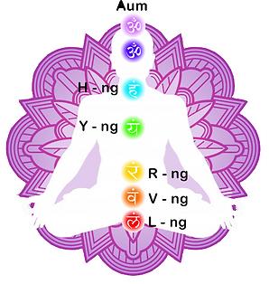 Chakra Beej mantra sounds associated with chakras original artwork hypnosis