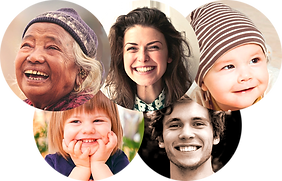 Poeple of all ages smiling release trauma, fear, anger through hypnosis