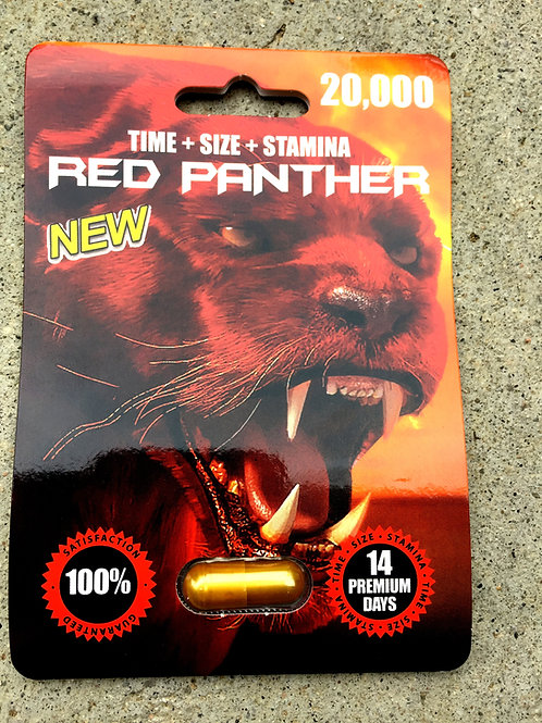 Red Panther 20,000 -24ct Display Box $3.54 per pill