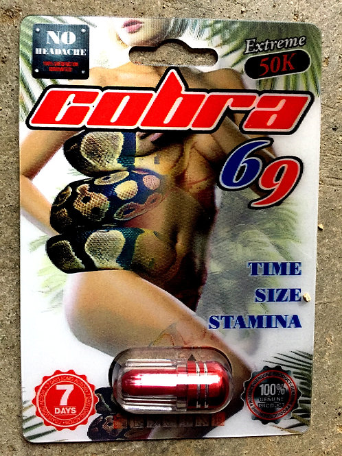 Cobra 69 extreme 50,000 3D 24 ct Display Box $2.80 per pill