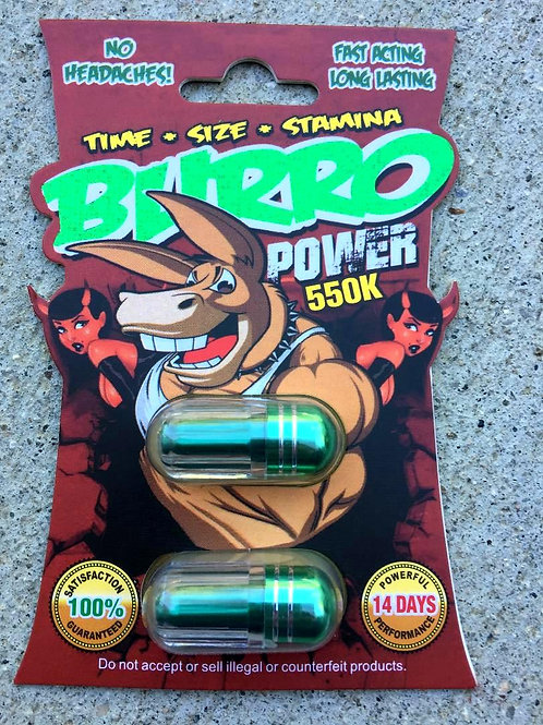 Burro Power Double 550k 48 ct Display box $2.18 per pill