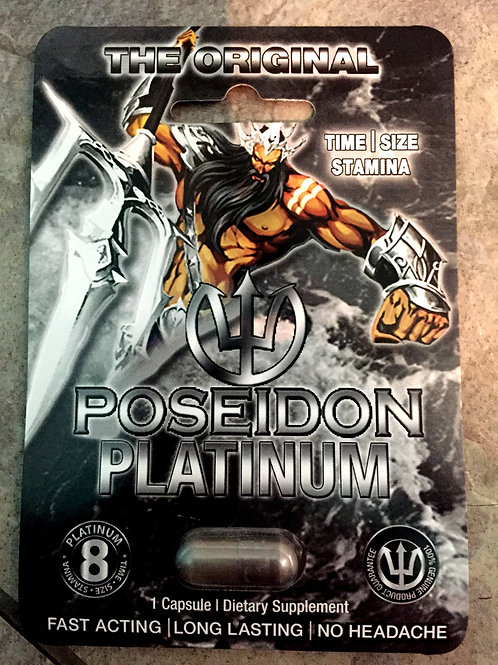 Poseidon Platinum 25 ct Display Box $4.37 per pill