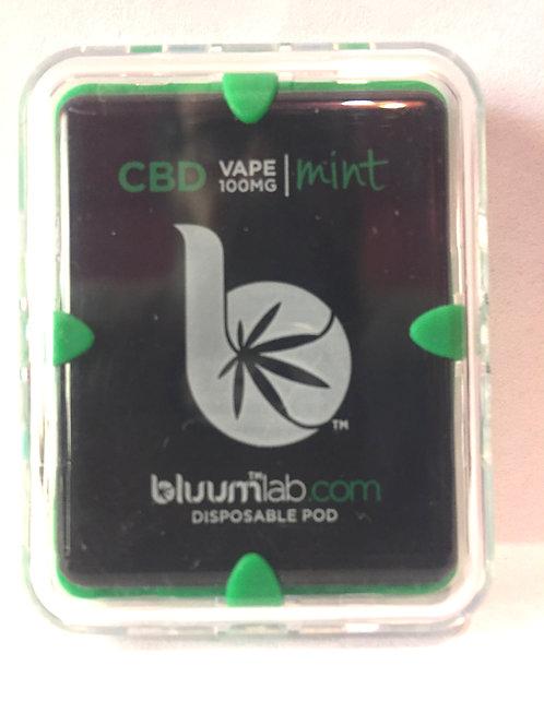 Bluum CBD Disposable Vape Pod Mint- 100mg -10 pc Display $12.50 each