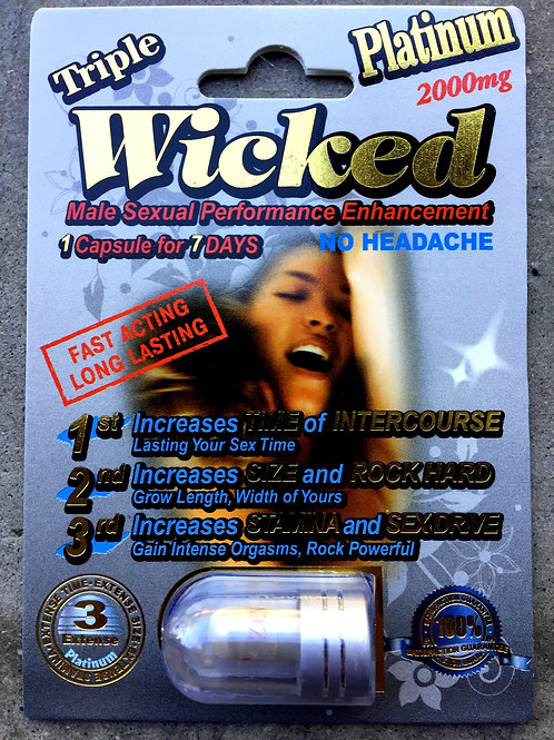 VIP PRICE Triple Wicked Platinum 2000 24 ct Display Box $5.50 per pill