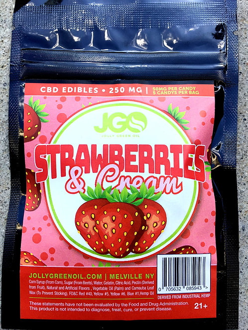 JGO  Gummies 250 MG 2 flavors -12 bags for $6.00 per bag